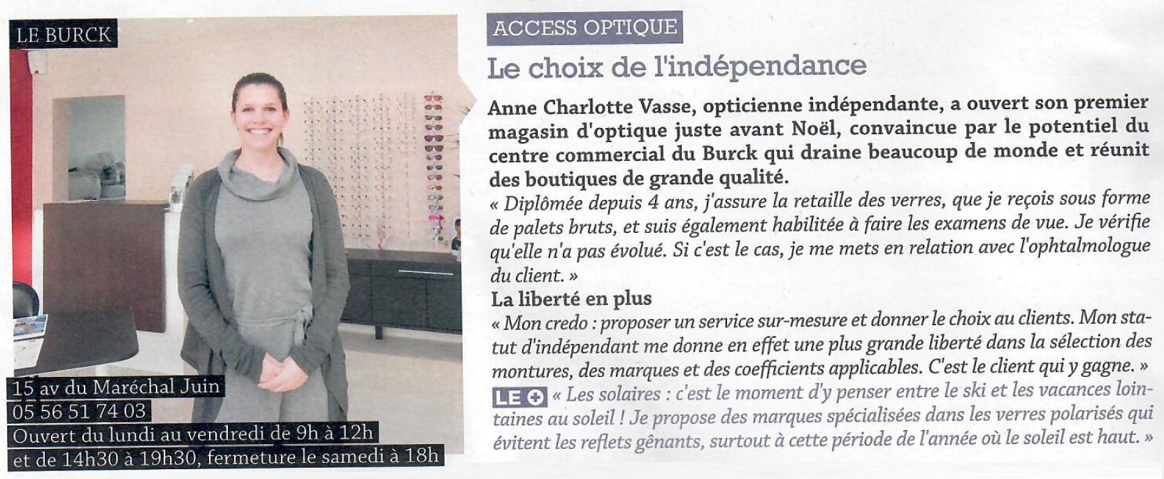 Access Optique Opticien Mérignac